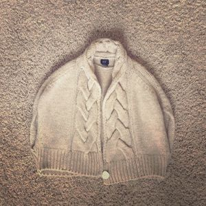 CABLE KNIT BEIGE SHRUG from H&M